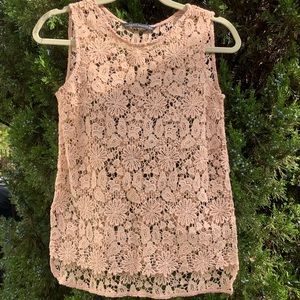 New Zara Lace Sleeveless Top Size XS